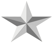 silver star png 10