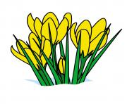 yellow flowers june clipart