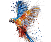 Parrot Watercolor painting Drawing Art Watercolor dancing parrot transparent background PNG clipart