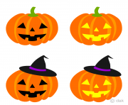 cute pumpkins halloween clip art