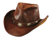 leather cowboy hat png