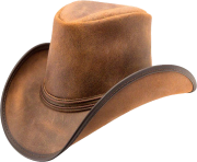 real leather cowboy hat png