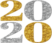 2020 Silver Gold PNG Clipart