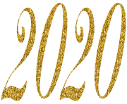 2020 Gold PNG Clip Art Image