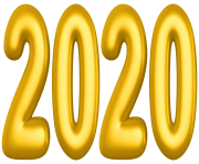 2020 Yellow PNG Clip Art Image