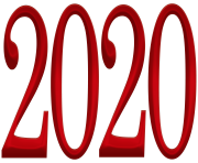2020 Red PNG Clipart