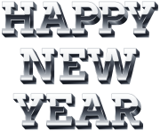 Happy_New_Year_Silver_PNG_Clip_Art_Image