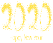 2020_Yelow_Happy_New_Year_PNG_Clipart_Image