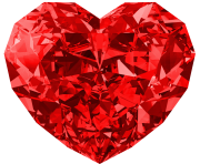 Red Diamond Heart Large Png Picture