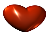 3d Red Heart Clipart