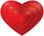 3 Hearts inside Transparent Png Clip Art