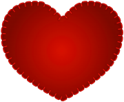Red Heart Sewing Style PNG Clipart