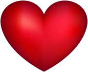Red Heart Transparent PNG Image 3d