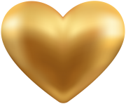 Gold Heart Transparent PNG Clip Art