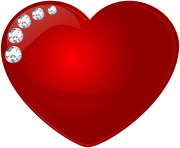 Heart With Diamonds Transparent Clip Art Image