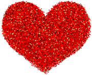 Decorative Red Heart Transparent Image