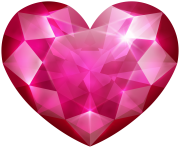 Pink Crystal Heart PNG Clip Art Image
