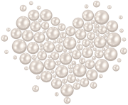 Decorative Pearl Heart Transparent Image