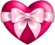 Heart with Bow Transparent PNG Clip Art