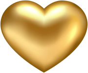 Golden Heart Transparent PNG Clip Art