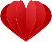 Red Origami Heart Transparent Image
