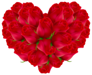 Rose Heart Transparent PNG Image