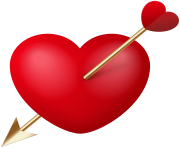 Heart with Cupid Arrow PNG Clipart
