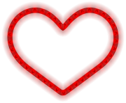 Glowing Heart Png Clipart Image