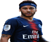 Neymar with Nike Logo Playing with PSG Team