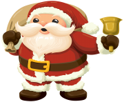 Santa with Bell PNG Clipar