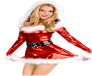 cute girl for christmas with santa claus clothes